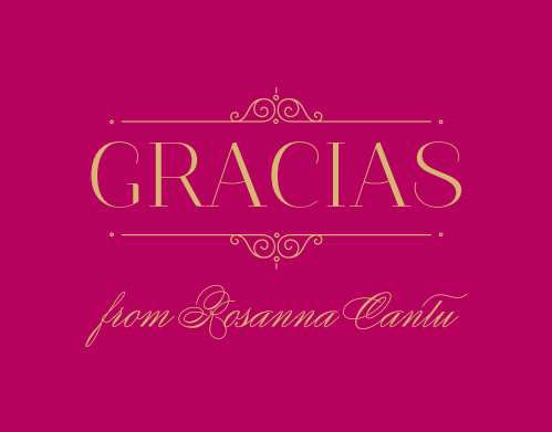 Forever Royalty Quinceañera Foil Thank You Cards