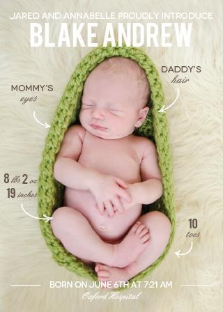 birth announcements 40 off super cute designs basic invite