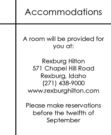 The Clean Lines Accommodation Cards