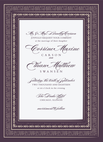 3587431b0678 Ornate Frame Wedding Invitations
