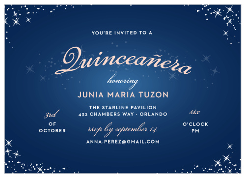 Quincea 241 Era Invitations Match Your Color Amp Style Free
