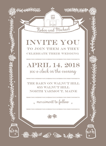 barn wedding invitations match your color style free