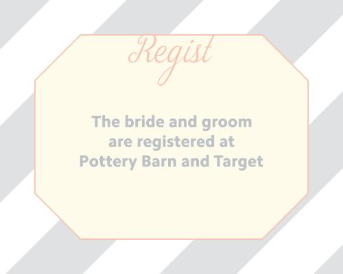 Ribbon & Stripes Registry Cards