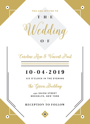 Modern Story Wedding Invitations