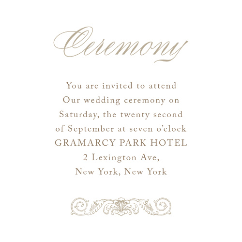 Lace Couture Ceremony Cards