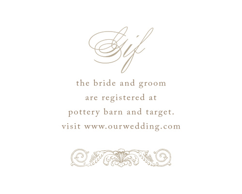 Lace Couture Registry Cards