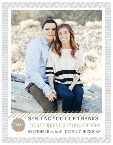 Simply Modern Wedding Thank You Cards