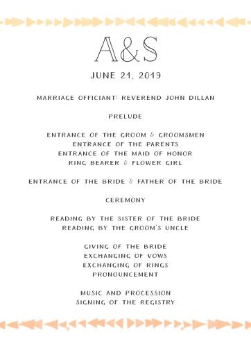 Brooklyn Loft Wedding Programs