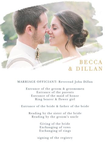 Brushstroke Bliss Foil Wedding Programs