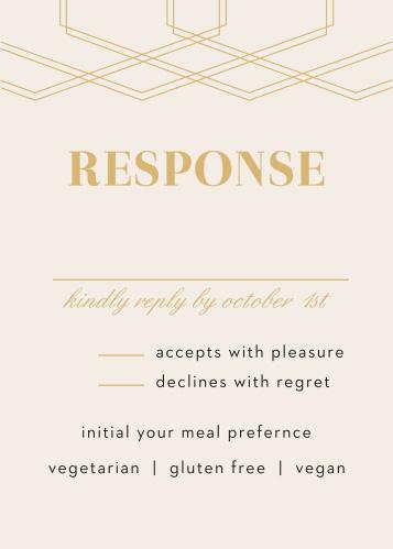 Deco Glam Foil Response Cards