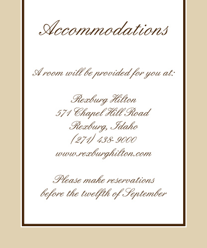 Vintage Classic Accommodation Cards
