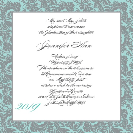 simply formal graduation announcements