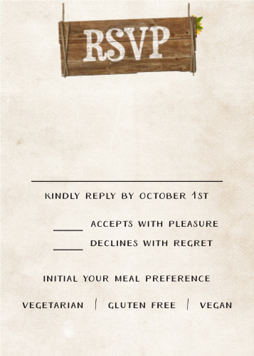 Rustic Heartchery Response Cards