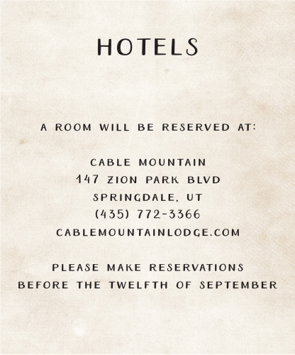 Rustic Heartchery Accommodation Cards