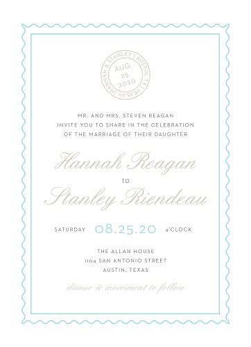 Note Home Wedding Invitations