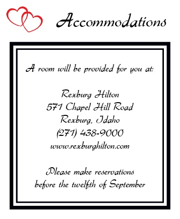 The Double Hearts Accommodation Cards