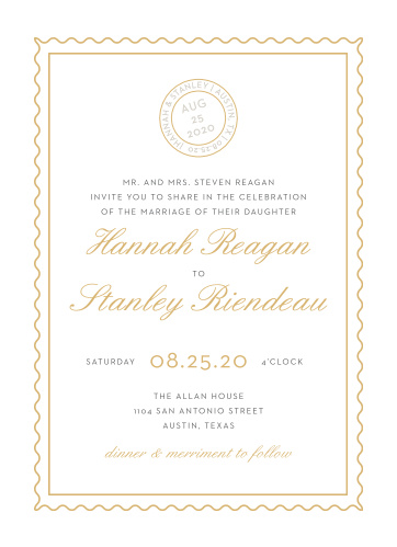 Note Home Foil Wedding Invitations