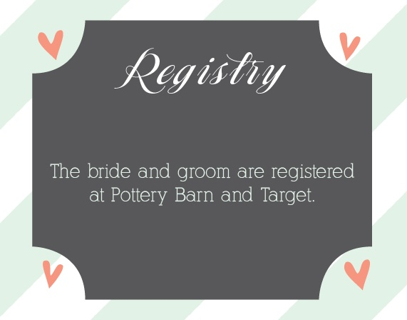 Ribbons and Confetti Registry Cards