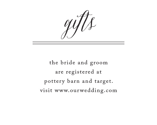 Rustic Chic Registry Cards