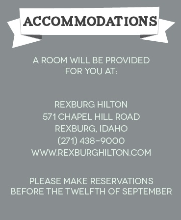 The Contemporary Banner Accommodation Cards