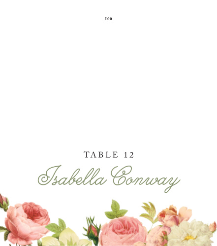 Alluring Florals Place Cards