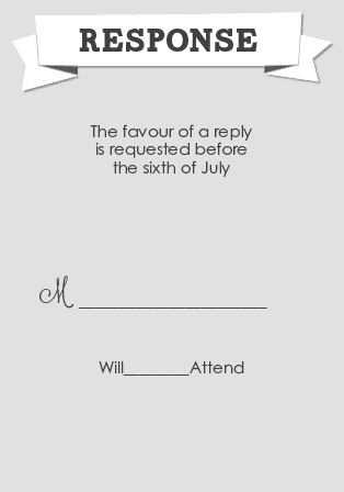 The Contemporary Banner RSVP Cards