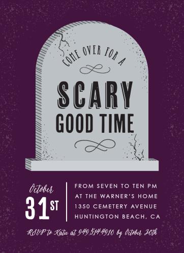 scary good halloween party invitations
