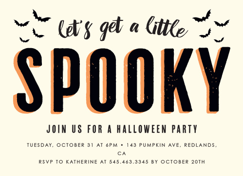 Spooky Bats Halloween Party Invitations