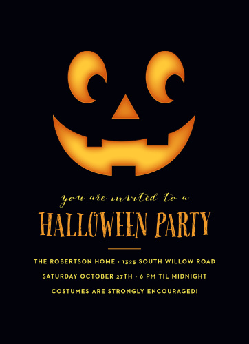 Perfect Pumpkin Halloween Party Invitations