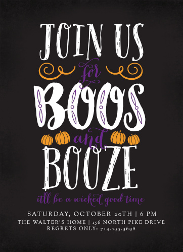 Community Halloween Party Invitations Match Your Color Style Free