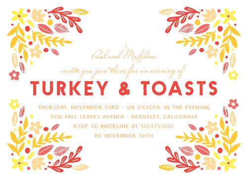 elegant thanksgiving party invitations match your color style free