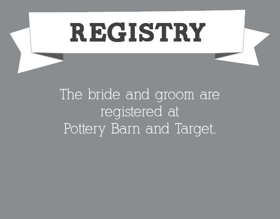 The Contemporary Banner Registry Cards