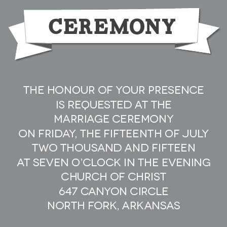 The Contemporary Banner Ceremony Cards