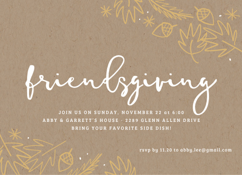 thanksgiving dinner party invitations match your color style free