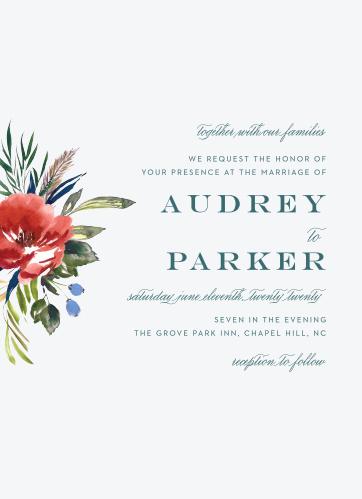 Arctic Florist Wedding Invitations
