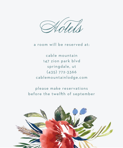 Arctic Florist Accommodation Cards