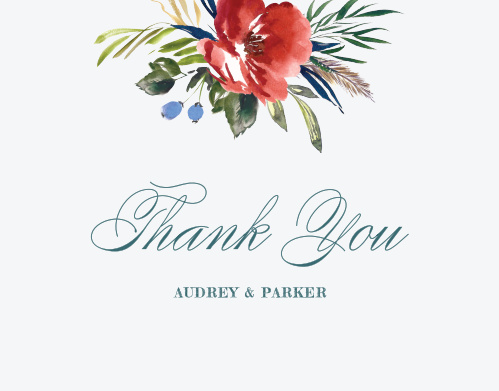 Arctic Florist Thank You Cards
