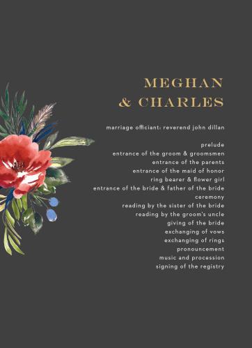 Arctic Florist Foil Wedding Programs