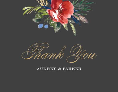 Arctic Florist Foil Thank You Cards