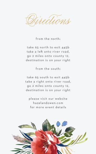 Arctic Florist Foil Direction Cards