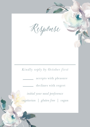 Antique Blooms Response Cards