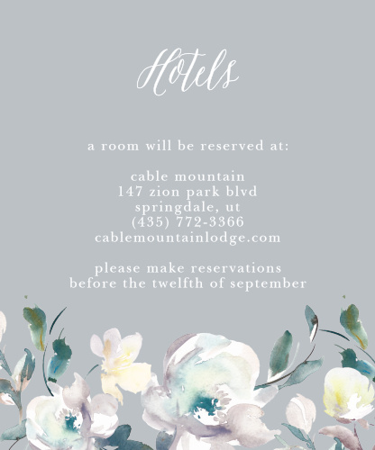 Antique Blooms Accommodation Cards