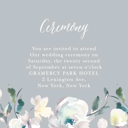 Antique Blooms Ceremony Cards