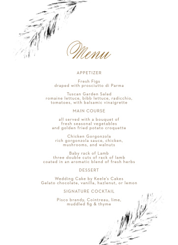 graphic regarding Printable Wedding Menus named Marriage ceremony Menus Style Your Menu Quickly On the internet! - Very simple