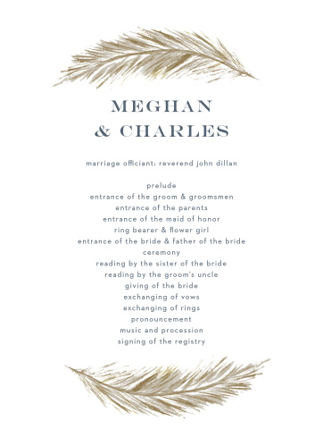 falling feathers foil wedding invitations by basic invite