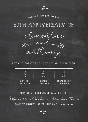 Anniversary Invitations Match Your Color Style Free Basic Invite