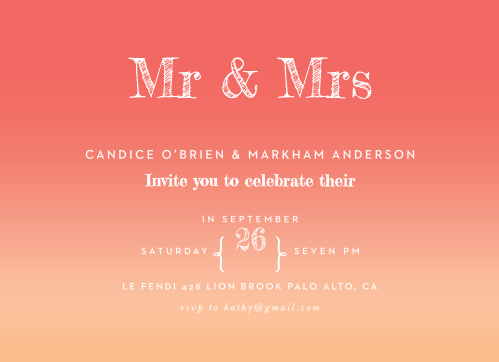 sunset engagement party invitations