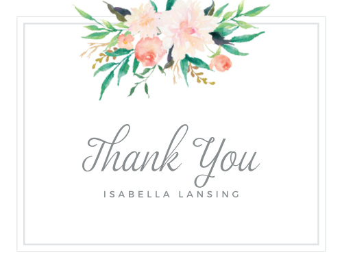 Blossoming Love Baby Shower Thank You Cards
