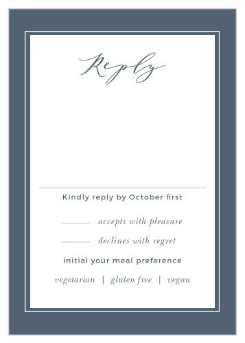 Wedding RSVP Cards | Match Your Color & Style Free! - Basic