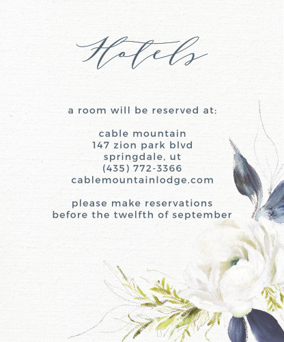 Oil Paint Textured Accommodation Cards